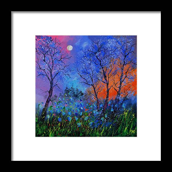 Landscape Framed Print featuring the painting Magic wood by Pol Ledent