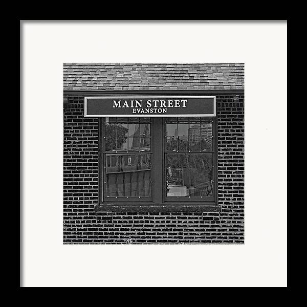 Black And White Framed Print featuring the photograph Main Street Station by Michael Flood