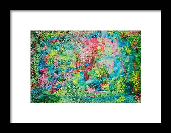 Abstract Framed Print featuring the painting Man In The Hat by Linda Klein