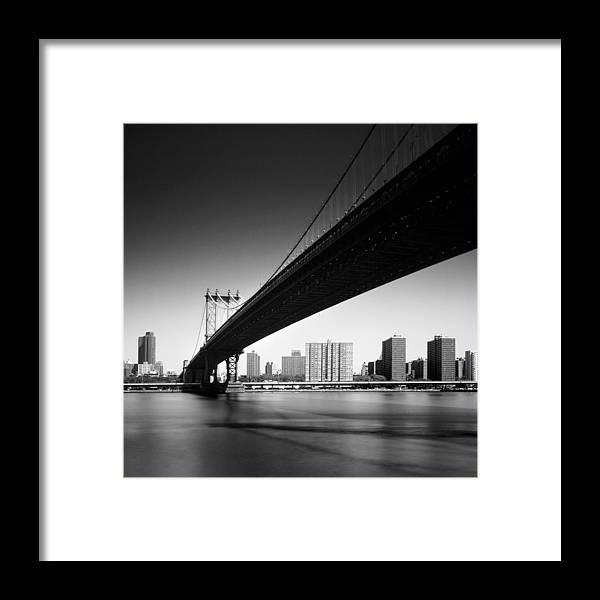 Ny Framed Print featuring the photograph Manhattan Bridge by Nina Papiorek