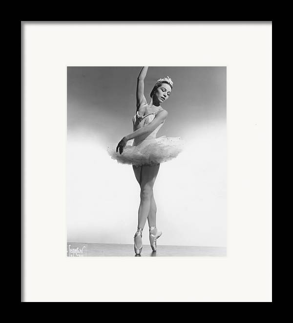 1950s Portraits Framed Print featuring the photograph Maria Tallchief, Ballerina by Everett