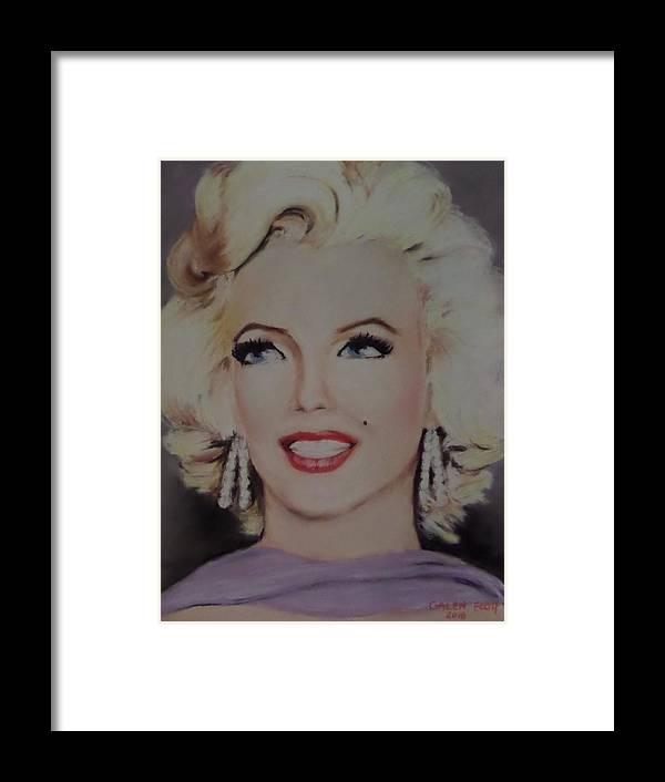Marilyn Monroe Framed Print featuring the painting Marilyn Monroe by Galen Foor