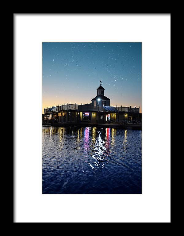 Framed Print featuring the photograph Marina by Emily Miller