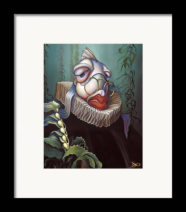 Court Framed Print featuring the painting Marquis De Sole by Patrick Anthony Pierson