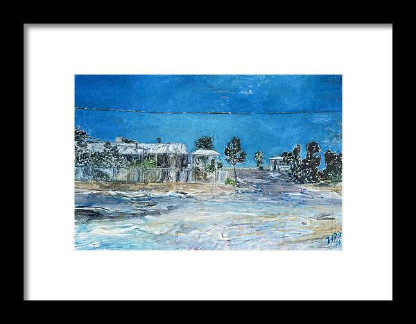 Australia Framed Print featuring the painting Marree Village by Joan De Bot