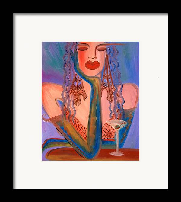 Martini Artwork Framed Print featuring the painting Martini In Paris by Helen Gerro