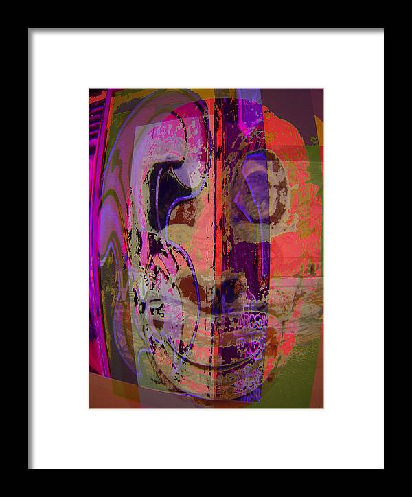 Mask Framed Print featuring the mixed media Mask by Noredin Morgan