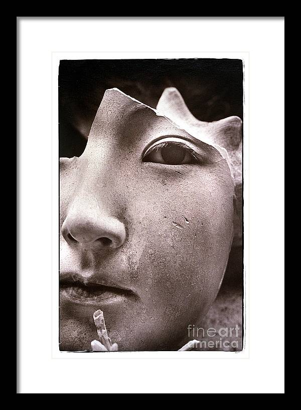 Mask Framed Print featuring the photograph Masque 1982 by Michael Ziegler