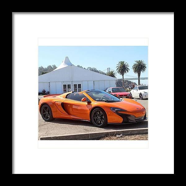 Mclaren 650s Spider #mclaren #650s Framed Print by Thrill Cars