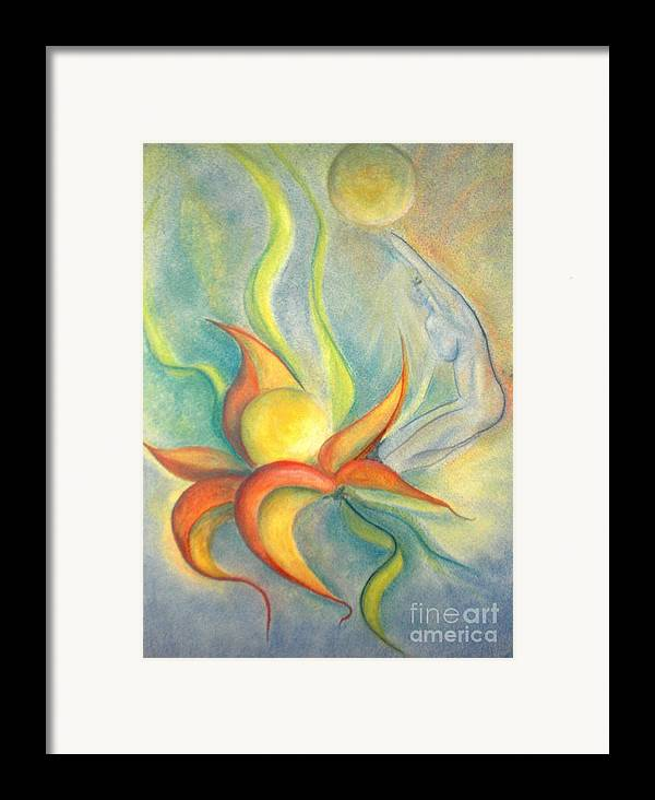 Flower Framed Print featuring the painting Menopause by Vivian Mosley