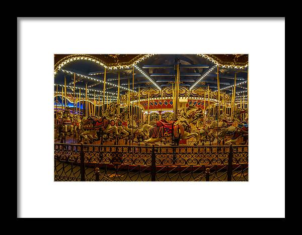 Merry Go Round Framed Print featuring the photograph Merry Go Round by Charles A LaMatto