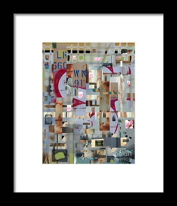 Abstract Framed Print featuring the digital art Metropolis by Marc VanDermeer