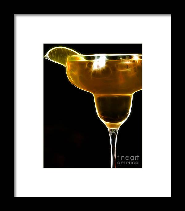 Alcohol Framed Print featuring the photograph Mexico Gold . Lime Margarita by Wingsdomain Art and Photography