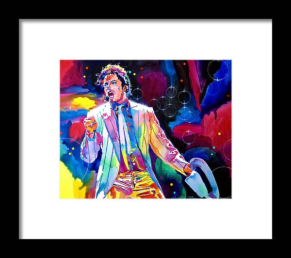 Michael Jackson Framed Print featuring the painting Michael Jackson Smooth Criminal by David Lloyd Glover