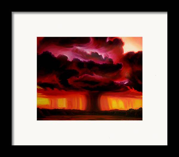 Skyscape Framed Print featuring the painting Microburst by James Christopher Hill