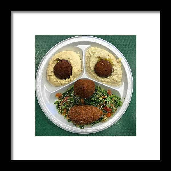 Miamiphotographer Framed Print featuring the photograph Middle Eastern Food Face by Juan Silva