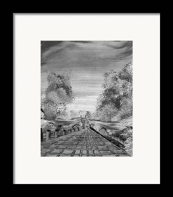 Framed Print featuring the print Miles From Nowhere by Beverly Baxter
