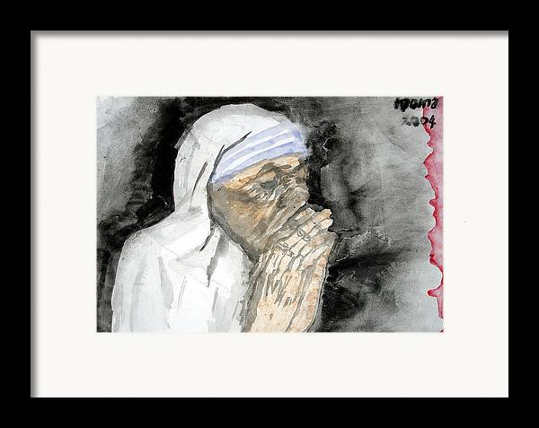 Mother Teresa Framed Print featuring the painting Miracle Mother by Rooma Mehra