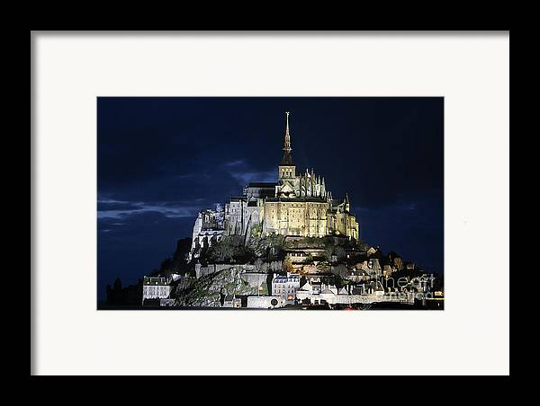 Mont St Michel Framed Print featuring the photograph Mont St. Michel At Night by Joshua Francia