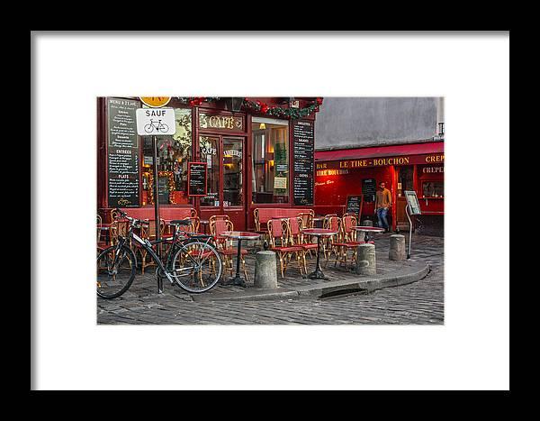Random Paris Photos Framed Print featuring the photograph Montmartre by Shaun McDonald