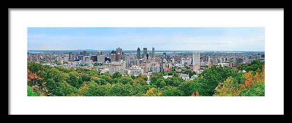 Montreal Framed Print featuring the photograph Montreal Day View Panorama by Songquan Deng