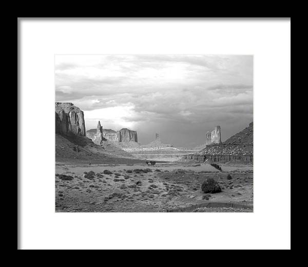 Monument Valley Framed Print featuring the photograph Monument Valley Afternoon by Troy Montemayor