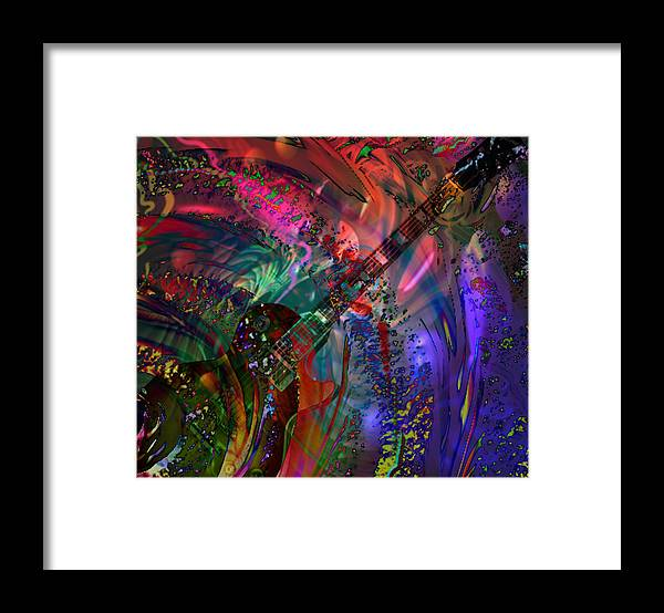 Gibson Framed Print featuring the digital art More Than A Feeling by Kevin Caudill