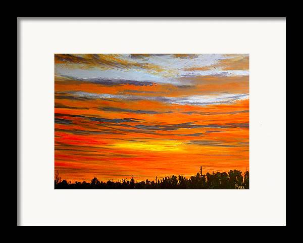 Sunrise Framed Print featuring the painting Mornin by Pete Maier