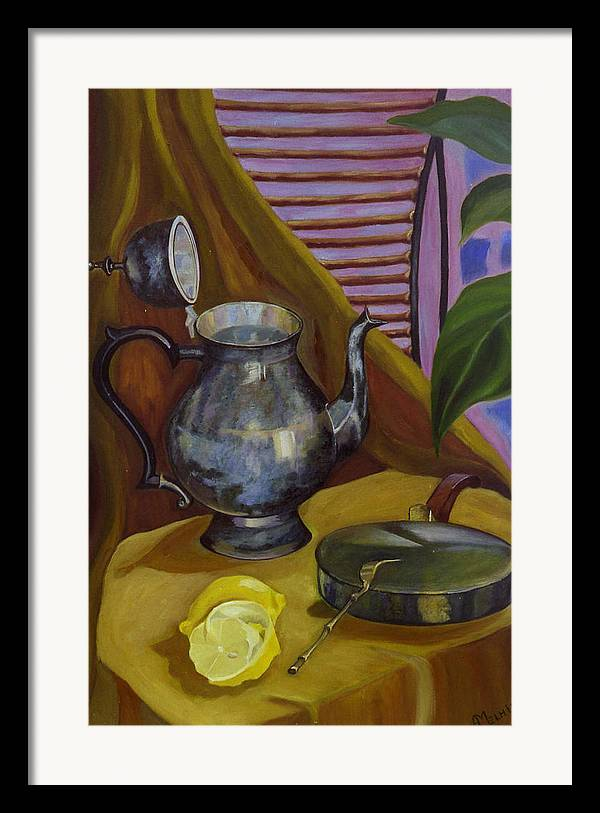 Still Life Framed Print featuring the painting Morning by Antoaneta Melnikova- Hillman