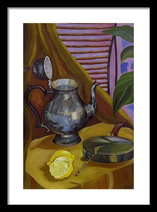 Still Life Framed Print featuring the painting Morning by Antoaneta Melnikova- Hillman