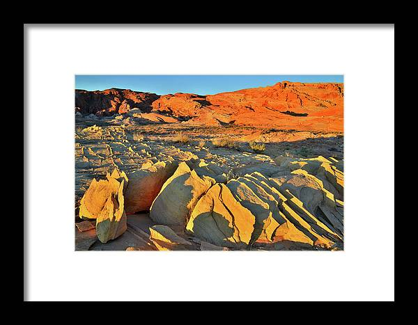 Valley Of Fire State Park Framed Print featuring the photograph Morning Comes To Valley Of Fire by Ray Mathis