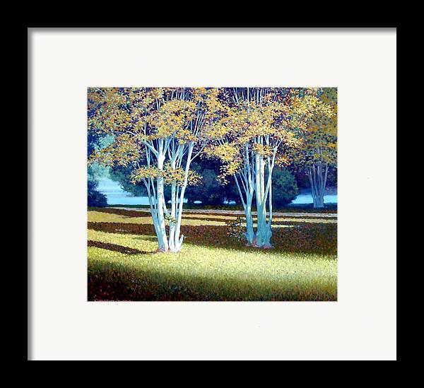 Fog Framed Print featuring the painting Morning Fog by Kevin Lawrence Leveque