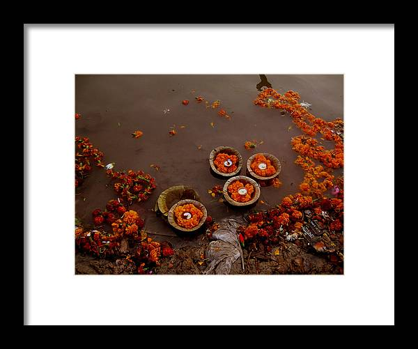 India Framed Print featuring the photograph Morning Prayer by Art Nomad Sandra Hansen