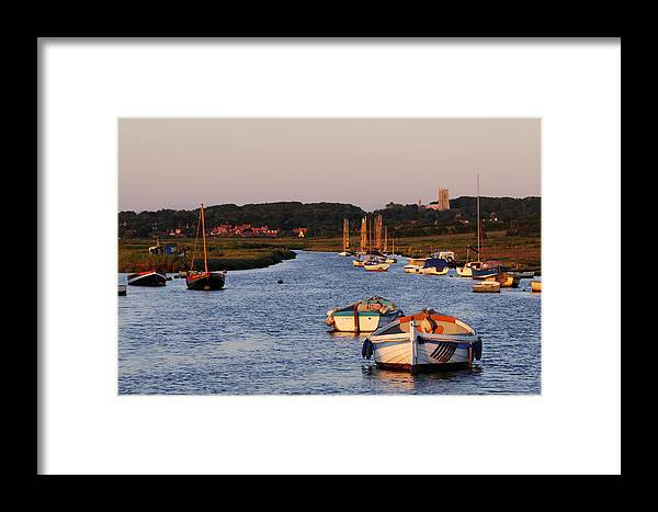 England Framed Print featuring the photograph Morston Creek by Liz Pinchen
