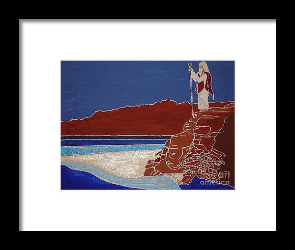Moses And The Red Sea Framed Print featuring the painting Moses And The Red Sea by Daniel Henning