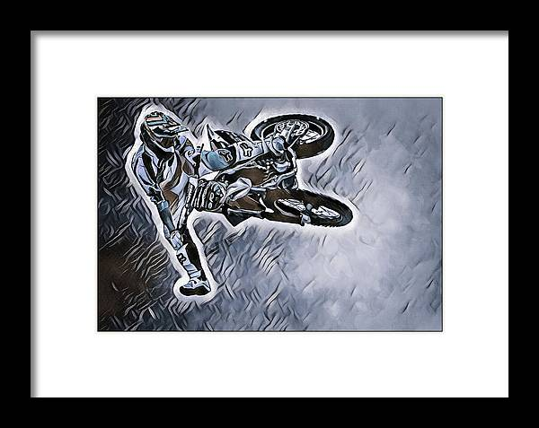 Motorcycle Framed Print featuring the photograph Motocross by Rob Wallace Images
