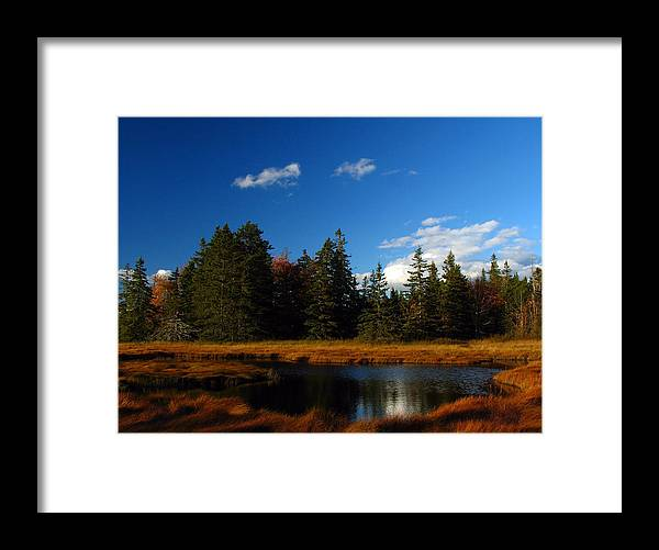 Landscape Framed Print featuring the photograph Mount Desert Island by Juergen Roth