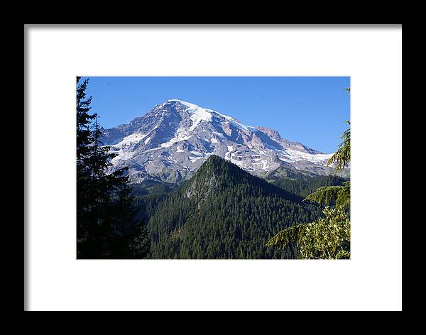 National Park Framed Print featuring the photograph Mount Rainier by Sonja Anderson