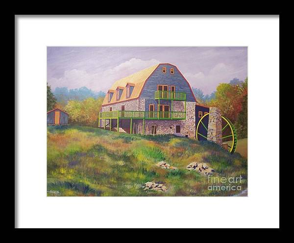 Mill Framed Print featuring the painting Mountain Mill by Hugh Harris