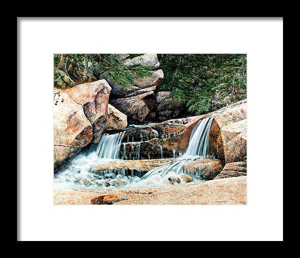 Landscape Framed Print featuring the painting Mountain Stream by Frank Wilson