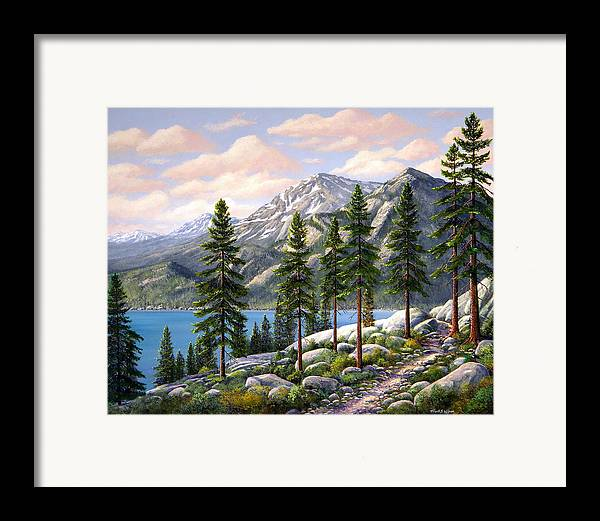 Landscape Framed Print featuring the painting Mountain Trail by Frank Wilson