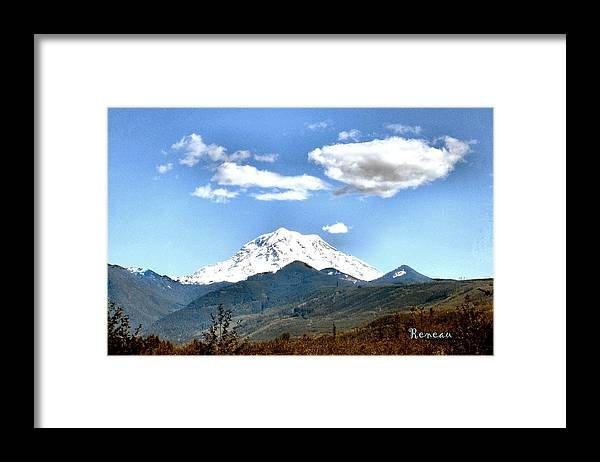 Mountains Framed Print featuring the photograph Mt Rainier Washington by Sadie Reneau
