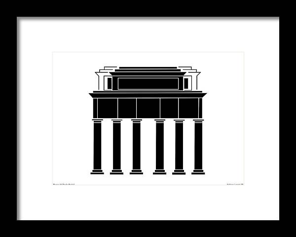 Museo Del Prado Framed Print featuring the digital art Museo Del Prado by Asbjorn Lonvig