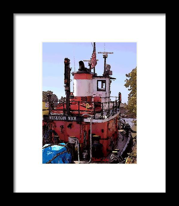 Nautical Framed Print featuring the photograph Muskegon Tug by Chuck Kugler
