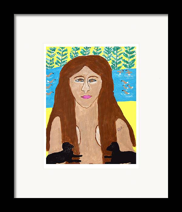 Framed Print featuring the painting Naked Freedom Of Nature by Betty Roberts