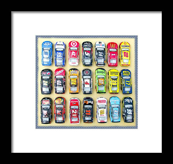 Nascar Framed Print featuring the photograph Nascar Collection by Bruce Roker