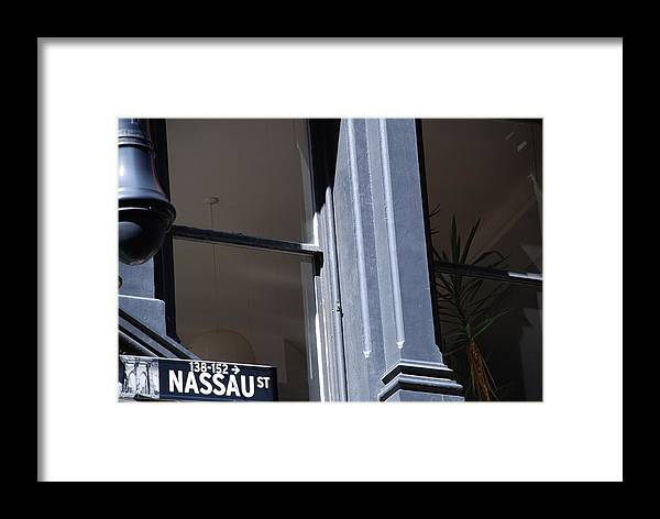 New York City Framed Print featuring the photograph Nassau Street by Rob Hans