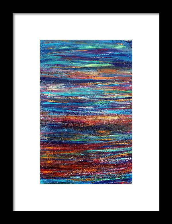 Abstract Framed Print featuring the painting Nature by Robin Monroe
