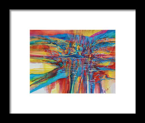 Navajo Framed Print featuring the painting Navajo Reflections by Donna Pierce-Clark