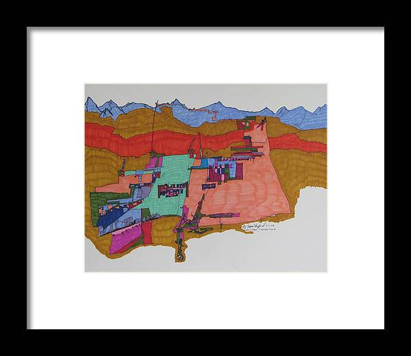 Holy City Framed Print featuring the mixed media Nazareth by James SheppardIII